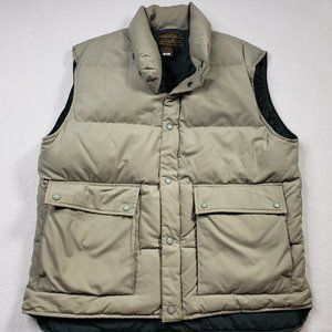 Eddie Bauer Goose Down Mens Puffer Vest Size Large